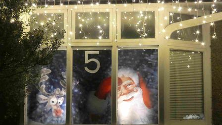 Residents in the Carlisle and Waverley area of St Albans have brought their livnig advent calendar to life this year...