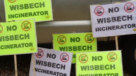 WisWin campaigners will be holding these placards as they continue their fight against incinerator proposals for Wisbech.