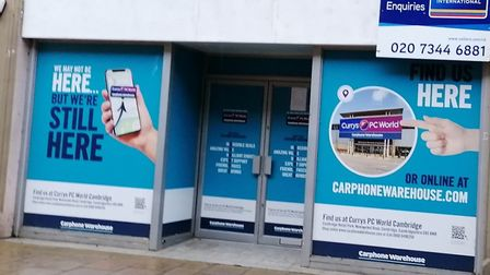 The former Carphone Warehouse shop in Huntingdon High Street could become a gaming centre.