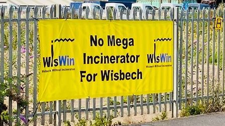 One of the WisWIN banners which was removed from its location. Pictures: WisWIN