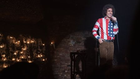 Sacha Baron Cohen as Abbie Hoffman in The Trial of the Chicago 7. Picture: Niko Tavernise/NETFLIX 2020