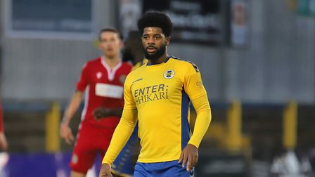 Kyran Wiltshire in action for St Albans City against Hungerford Town. Picture: PETER SHORT