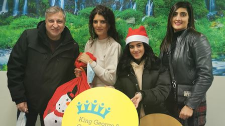 king george and queens hospitals charity christmas chocolate donation