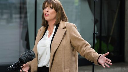 Labour Party MP Jess Phillips speaks to the media outside the BBC Broadcasting House. Photograph: Wi