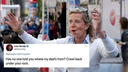 Lisa Nandy issues a put down to Katie Hopkins. Photograph: PA/TNE.