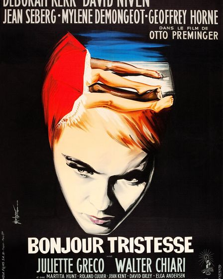 Bonjour Tristesse, poster, French poster art, Jean Seberg, 1958. (Photo by LMPC via Getty Images)