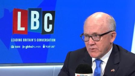 Woody Johnson appears on LBC Radio with Nick Ferrari. Photograph: LBC.