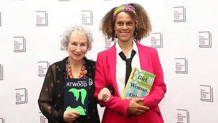 Booker Prize winners Margaret Atwood and Bernardine Evaristo. Picture: Getty Images