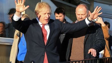 Boris Johnson during a visit to see newly elected Conservative party MP for Sedgefield, Paul Howell