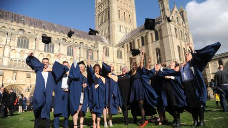 Students celebrate graduation at Norwich Cathedral