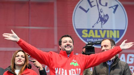 Leader of Italy's far-right League (Lega) party, Matteo Salvini (question three) Photo by ANDREAS SO