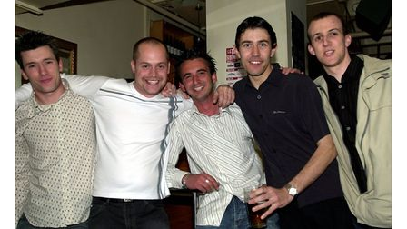 Customers at Pals bar in Ipswich in 2004