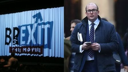 Brexit: The Movie was screened before the EU referendum and the producer David Shipley (right). Phot