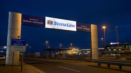A view of the Stena Line Belfast to Cairnryn terminal at Belfast Harbour. Photograph: Liam McBurney/