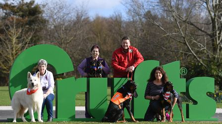 Dogs and their owners at a previous launch of the Crufts Dogshow at the Birmingham National Exhibiti