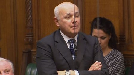 Conservative MP Iain Duncan Smith speaks in the House of Commons. Photograph: House of Commons.