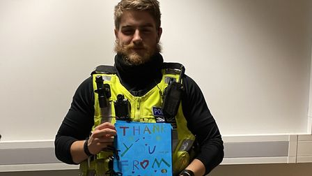 Hatfield Police have been given a 'Thank You' book. Picture: Supplied