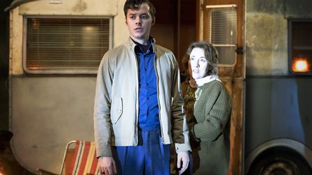 Jack Bannon as Alfred Pennyworth and Dorothy Atkinson as Mrs Pennyworth in episode two of season two