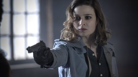 Emma Paetz as Martha Kane in the second series of Pennyworth. Picture: Alex Bailey/Epix