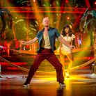 Jake Wood and Janette Manrara's Salsa on Strictly in 2014. Picture: BBC / Kieron McCarron