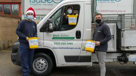 Isabel Hospice are offering a Christmas tree recycling service in return for a donation. Picture: Jo