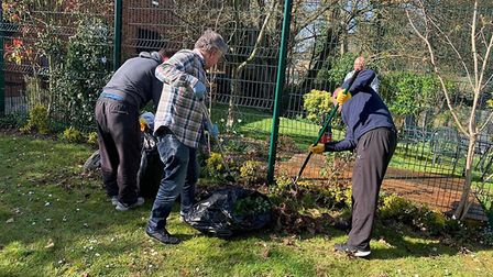 Guests helping out gardening. Picture: Resolve