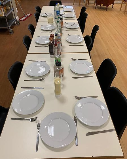 All the guests and staff would eat together. Picture: Resolve