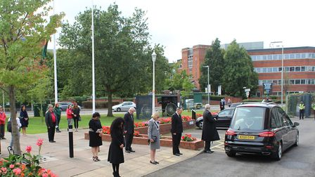 Hertsmere Borough Council pays its respect to the late mayor Cynthia Barker. Picture: HBC