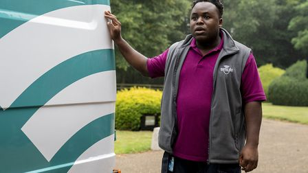 Samson Kayo as Elton in episode two of Truth Seekers. Picture: Colin Hutton / Stolen Picture / Amazon Prime