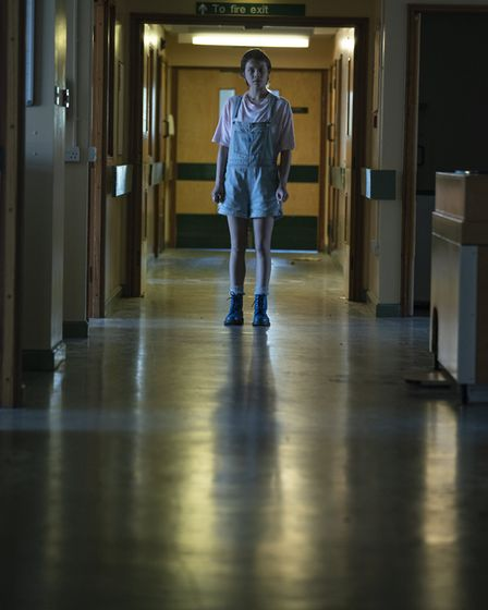 Emma D'Arcy as Astrid in the first episode of Truth Seekers. Picture: Colin Hutton / Stolen Picture