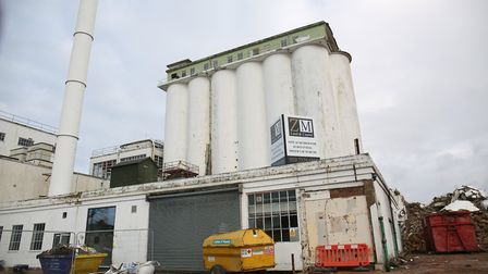 Demolition of the Shredded Wheat Factory in Welwyn Garden City. Picture: Danny Loo