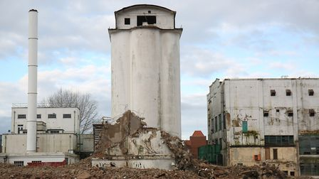 Demolition of the former Shredded Wheat factory in Welwyn Garden City. Picture: Danny Loo