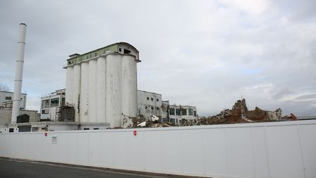 Demolition of the old Shredded Wheat factory in Welwyn Garden City. Picture: Danny Loo