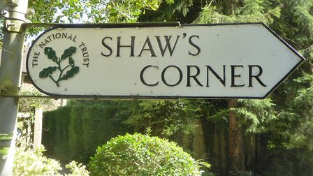 This way to George Bernard Shaw's home Shaw's Corner at Ayot St Lawrence. Picture: Alan Davies