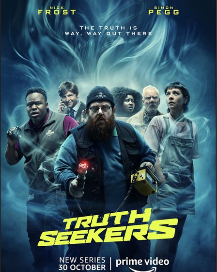Amazon Original series Truth Seekers starring Nick Frost and Simon Pegg can be seen on Prime Video f