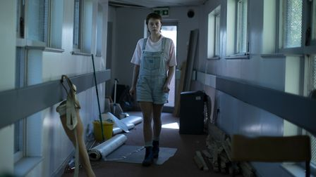 Emma D'Arcy as Astrid in episode one of Truth Seekers. Picture: Colin Hutton / Stolen Picture / Amaz