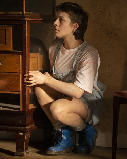 Emma D'Arcy as Astrid in episode two of Truth Seekers. Picture: Colin Hutton / Stolen Picture / Amaz