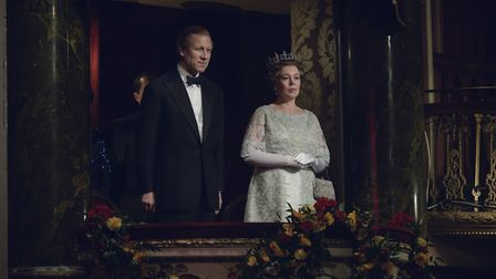Tobias Menzies as Prince Philip and Olivia Colman as Queen Elizabeth II in the forthcoming fourth se