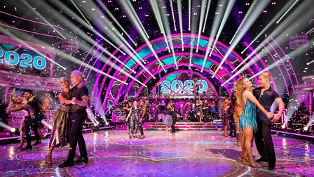The Strictly Come Dancing launch show, which is filmed at Elstree Studios. Picture BBC / Guy Levy
