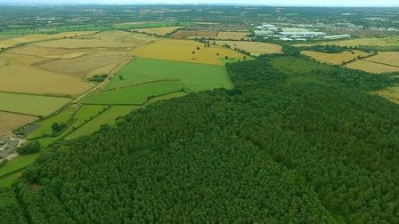 Aerial view of Symondshyde Green Belt land. Picture: Save Symondshyde