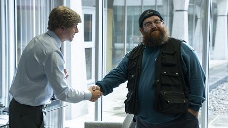Simon Pegg as Dave and Nick Frost as Gus Roberts in Truth Seekers. Picture: Colin Hutton / Stolen Pi