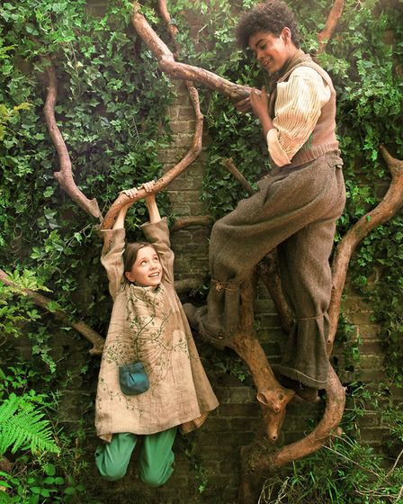 Mary Lennox (Dixie Egerickx) and Dickon (Amir Wilson) in The Secret Garden. Picture: STUDIOCANAL