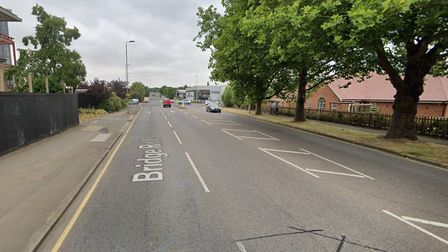 Bridge Road East in Welwyn Garden City was closed this morning due to an 'uneven road surface'. Pict
