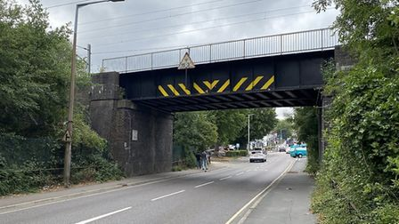 Cuffley Bridge is being improved by Network Rail. Picture: GTR