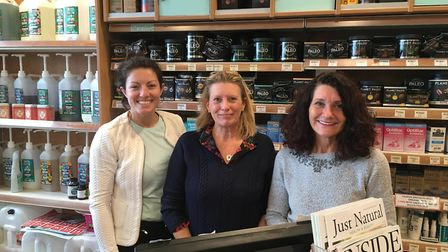 Sales advisor Louise Sizeland, manager Julia Eveleigh and owner Julie.