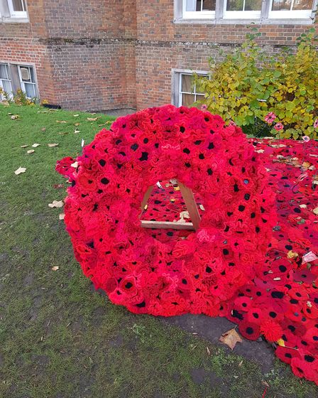 The Secret Society of Hertford Crafters' 352 wreath. Picture: supplied by The Secret Society of Hert
