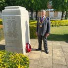 Cllr Roger Trigg on Remembrance Sunday 2020. Picture: WHBC