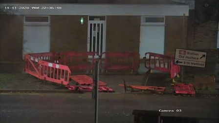 Works have begun on Link Drive to close it off for some traffic. Picture: Adam Law