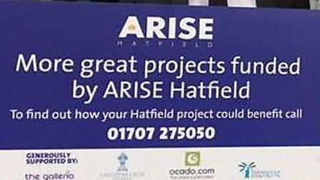 ARISE Haatfield have donated more than £2,000 to three organisations in Hatfield. Picture: supplied