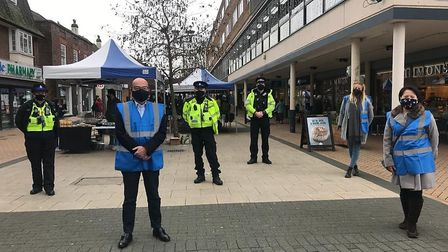 A COVID-secure support team will be out and about in Welwyn Garden City and Hatfield town centres to